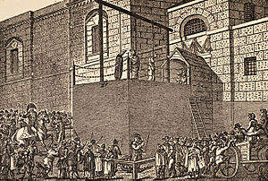 Sodomy - An execution taking place outside Newgate Prison