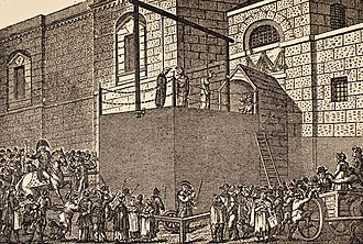 Newgate Prison - An execution taking place at Newgate
