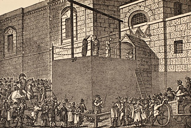 Hangin outside Newgate Prison