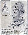 Hans Gyenis, Porträtzeichnung russ.Kgf. Michailow Semion, März 1917.jpg