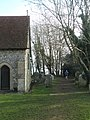 Hardy jogger passing All Saints, Catherington - geograph.org.uk - 1098144.jpg