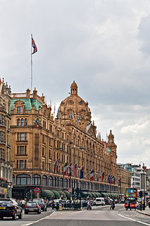 Knightsbridge district in central London