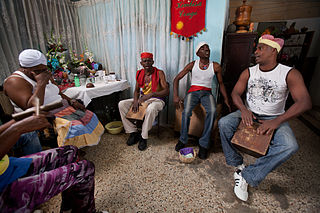 Santería Afro-American religion of Yoruba origin that developed in Cuba