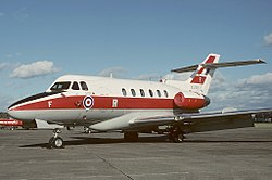 An RAF Hawker Siddeley Dominie T1 of No. 6 Flying Training School based at Finningley.