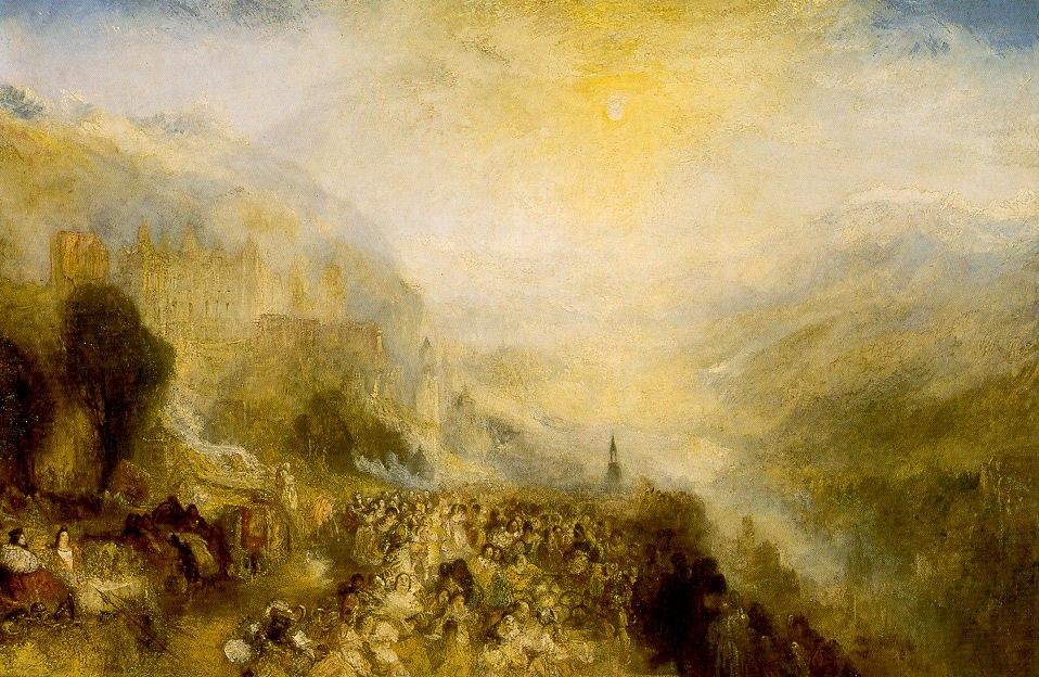 Heidelberger Schloss von William Turner 1844 1845