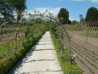 Lost Gardens of Heligan - Vegetable Garden apple arches