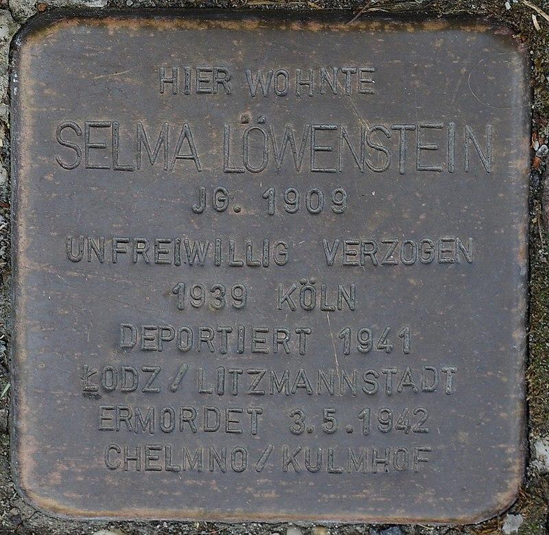 Hellenthal, Kölner Str. 66, Stolperstein für Selma Löwenstein.jpg