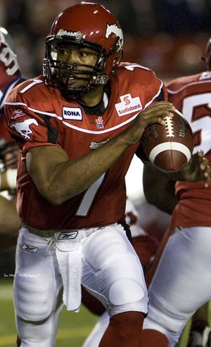 Henry Burris - Burris with the Calgary Stampeders in 2007