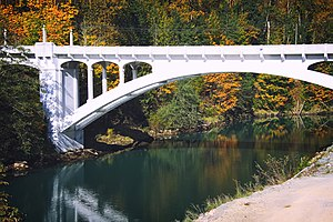 National Register of Historic Places listings in Skagit County, Washington - Image: Henry Thompson Bridge in Concrete, WA