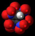 Heptanitrocubane molecule spacefill.png