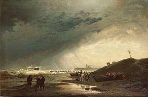 Hermann Eschke - Schiffswrack an einer Küste.jpg