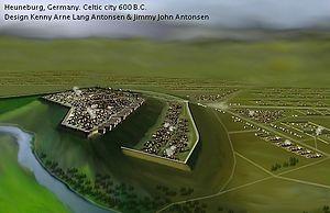Heuneburg - Reconstructed Celtic Heuneburg in 600 B.C.