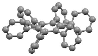 Hexaphenylbenzene - Image: Hexaphenylbenzene xtal perspective