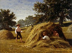 Hiding in the Haycocks (1881) by William Bliss Baker.jpg