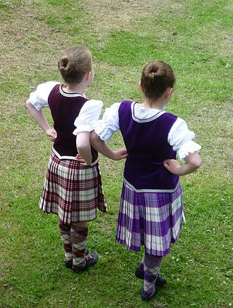 Scottish highland dance - Girls dressed for Highland dancing