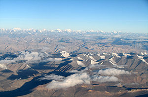 """Endless snow-clad Himalayan mountains, t..."