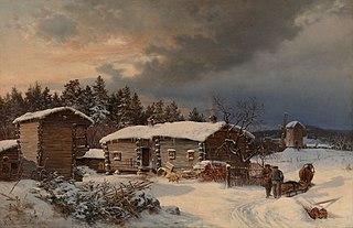 Winter Landscape with Farmhouse in Häme