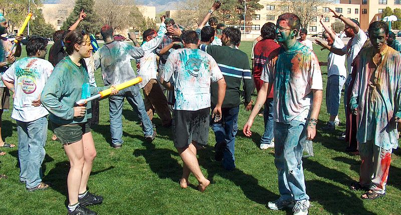 Holi celebrations by the India Student Association at University of New Mexico