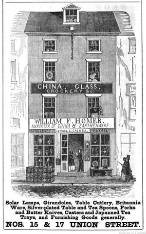 Union Street (Boston) - Image: Homer Union St Boston Directory 1852