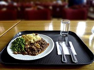 Shepherd's pie - Image: Homerton College Shepherd's pie