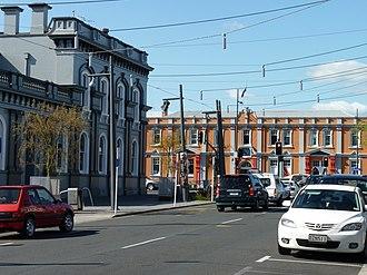 Hamilton, New Zealand - Hood Street in Hamilton Central.