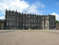 Entrance front of Hopetoun House, designed by William Adam and modified by the Adam Brothers