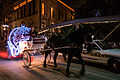 Horse and Carriage at Night on the San Antonio Riverwalk (2014-12-12 22.48.49 by Nan Palmero).jpg
