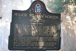 Horton House - Image: Horton House historical marker