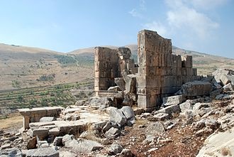 Temples of the Beqaa Valley - Image: Hosn Niha,temple A NE
