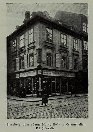 House of the Black Madonna - Barrock building (belonging to Knights of Granov) demolished in 1911