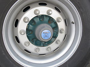 Odometer - A Hubodometer on a wheel of a semitrailer