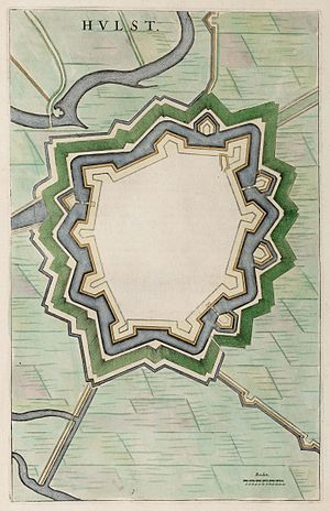 Hulst - Map of the star fort