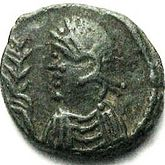 Coin depicting Huneric (477-484)