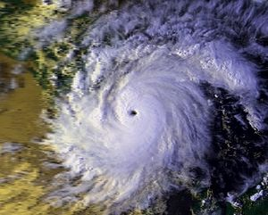 Hurricane Joan–Miriam - Image: Hurricane Joan 21 oct 1988 2103Z