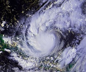Hurricane Keith - Hurricane Keith near landfall in Belize on October 1