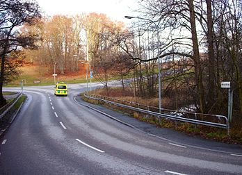 Husarbron 1913 og set fra samme sted i december 2011.