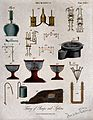 Hydraulics; various designs for pumps. Engraving by A. Bell. Wellcome V0024470EL.jpg