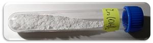 Zinc hydroxide - Image: Hydroxid zinečnatý