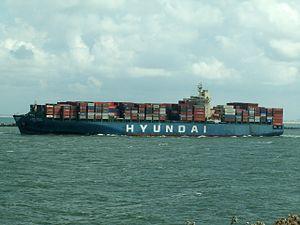 Hyundai General, leaving Port of Rotterdam, Holland 06-Aug-2005.jpg
