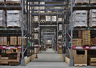 IKEA - The self-service warehouse area