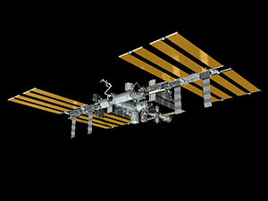 Assembly of the International Space Station - An artist's impression of the International Space Station's configuration as of November 2010.