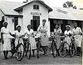 IVS Volunteer Susan Roberts and a Group of Student Nurses, Thakhek, Laos, 1966 (13875967754).jpg