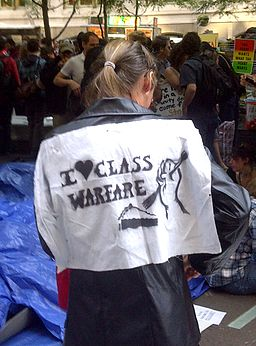 I Heart Class Warfare - Occupy Wall Street Protest - 8 Oct 2011 - Zuccotti Park - NYC - USA - BlackBerry Photo
