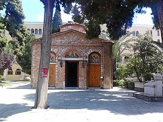 Petraki Monastery - Image: Iera Moni Asomaton Petraki