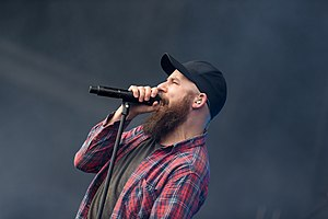 In Flames - Singer Anders Fridén at Rock am Ring 2017