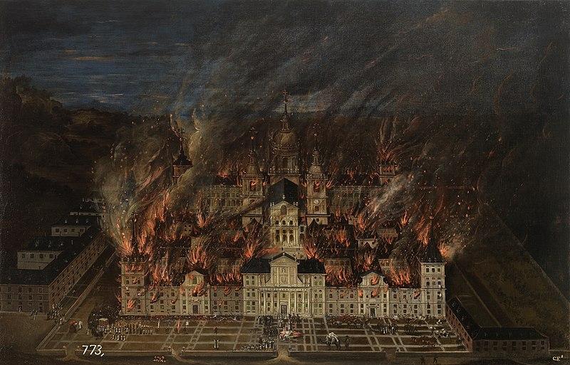 File:Incendio del monasterio de El Escorial en 1671 (Museo del Prado).jpg