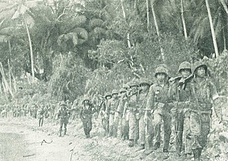 North Maluku - Indonesian Navy Commando Corps on Morotai Beach during the Permesta insurgency