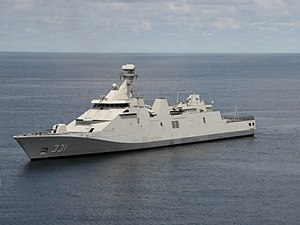 Indonesian frigate KRI Raden Eddy Martadinata (331) underway in the South China Sea on 21 May 2018 (180521-N-IX266-001).JPG