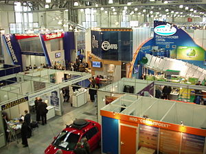 Media of Russia - InfoCom-2004 telecom exhibit in Moscow