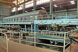 Inside the Diesel shed showing the bogie exchange mechanism.jpg